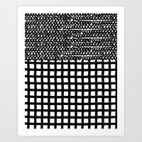 Circles and Grids Art Print