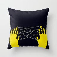 Yellow Cats Cradle Throw Pillow