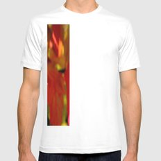 Droplets Mens Fitted Tee SMALL White