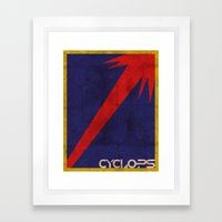 Minimalist Cyclops Framed Art Print