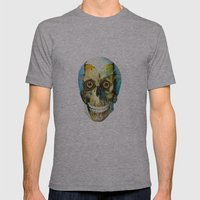 SKULL#02 Mens Fitted Tee Athletic Grey SMALL