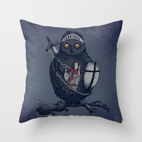 Night Watchman Throw Pillow