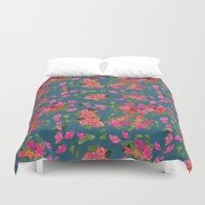 April blooms(Bougainvillea_blue) Duvet Cover