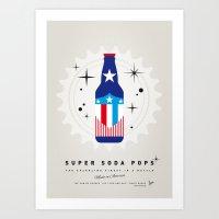 My SUPER SODA POPS No-14 Art Print