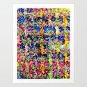 Colour Pattern Art Print