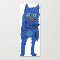 El Monstro Azul Canvas Print