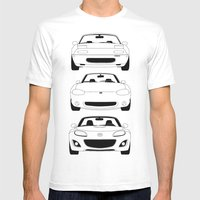 MX-5/Miata Generations Mens Fitted Tee White SMALL