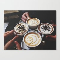 Coffee with Friends Canvas Print