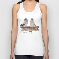 Pigeons in love Unisex Tank Top