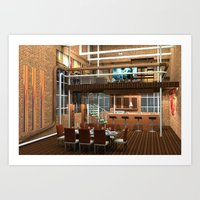 Loft Apartment Dining Ro… Art Print