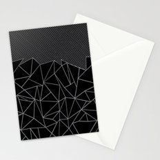 Ab Lines 45 Grey and Black Stationery Cards