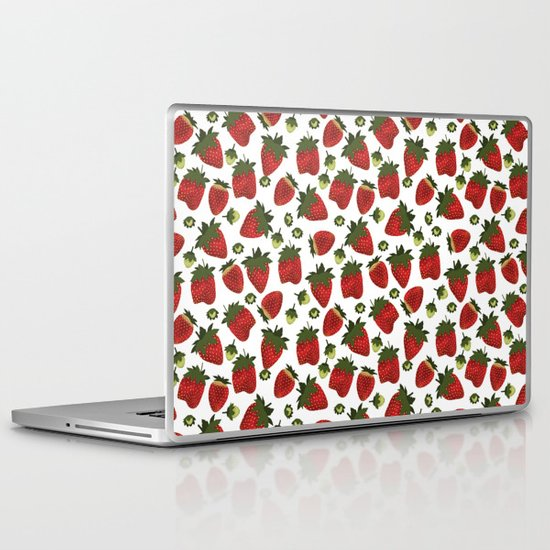 Strawberry Pattern Laptop & iPad Skin