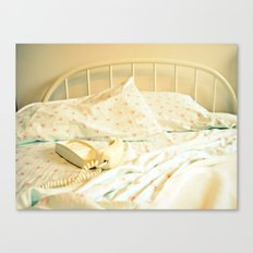 Sunday Morning ~ Vintage Telephone in Bed Canvas Print