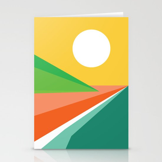 The beach Stationery Card