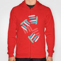 Coral and Turquoise Hoody