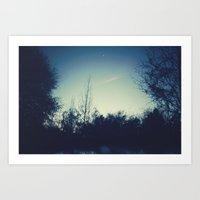 When the Night Falls Art Print