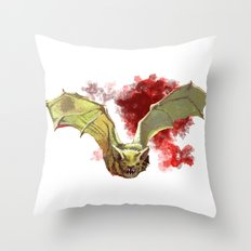 Bat Flight Throw Pillow