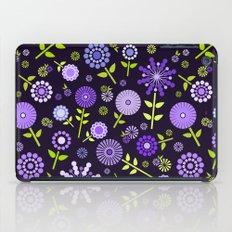 Retro purple flowers  iPad Case