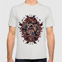 Evil Mandala Mens Fitted Tee Silver SMALL