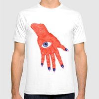 All-Seeing Nails Mens Fitted Tee White SMALL