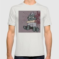 Zom-Boy  Mens Fitted Tee Silver SMALL
