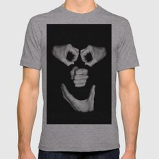 Face ! Mens Fitted Tee Athletic Grey SMALL
