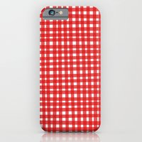 Red Gingham iPhone 6 Slim Case