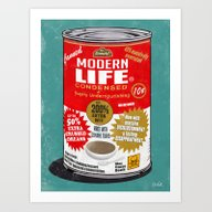Canned Life Art Print