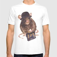 Rat, Journalist, Office … Mens Fitted Tee White SMALL