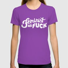 FEMINIST Womens Fitted Tee Ultraviolet SMALL
