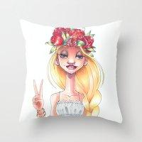 Hippie Throw Pillow