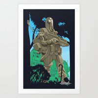 Robotic Warfighter MK.5D (devGrob) Art Print
