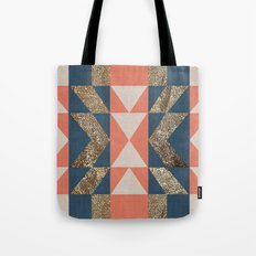 Tribal Geometric Shapes Tote Bag