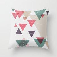 Triângulos ligados Throw Pillow