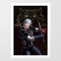Geralt Of Rivia Art Print