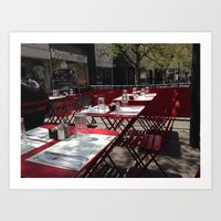 cafe NJ Art Print