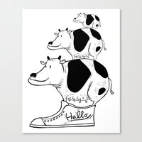 cow baby Canvas Print