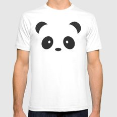 Panda Paul SMALL White Mens Fitted Tee