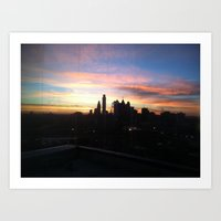 Sunset Skyline Art Print