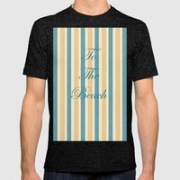 Beach House Mens Fitted Tee Tri-Black SMALL