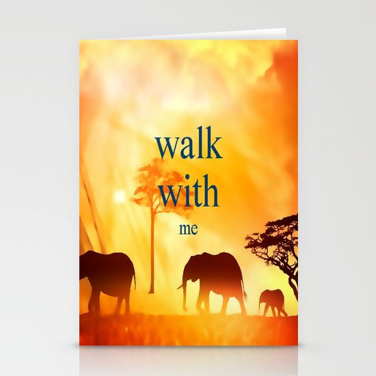 Walk with me Stationery Card