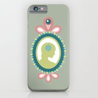 iPhone & iPod Case featuring That Pretty Lady [Sage] by Veronica Galbraith