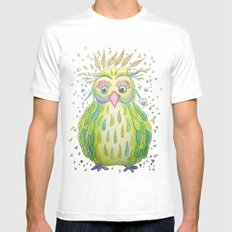 Forest's Owl SMALL White Mens Fitted Tee