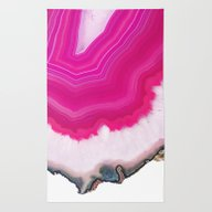 Rug featuring Pink Agate Slice by Cafelab