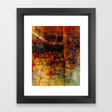 Stairs to the basement Framed Art Print