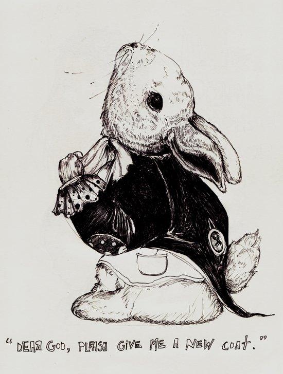 Rabbit's Coat Art Print