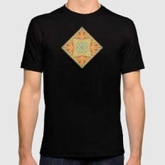 Deco abstraction Black SMALL Mens Fitted Tee