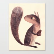 Canvas Print featuring Squirrel by Chuck Groenink