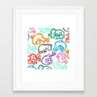 Crayon Love: Dragons Framed Art Print
