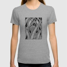 Bunny in the Grass Womens Fitted Tee Athletic Grey SMALL